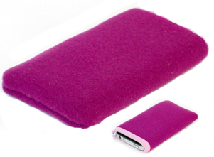 FUNDA IPAD+IPHONE GRANATE TEXTIL -NOOEM