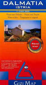 DALMATIA / ISTRIA 1:250.000 -ROAD MAP -GIZI MAP