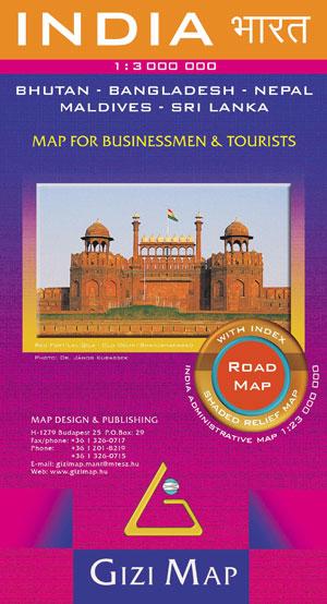 INDIA. ROAD MAP 1:3.000.000 -GIZI MAP