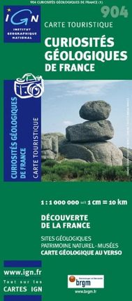 904 CURIOSITÉS GÉOLOGIQUES DE FRANCE 1:1.000.000 -DÉCOUVERTE DE LA FRANCE -IGN