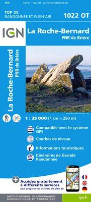 1022 OT LA ROCHE-BERNARD 1:25.000 -TOP 25 IGN
