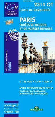 2314 OT PARIS FORET DE MEUDON 1:25.000 -TOP 25 IGN