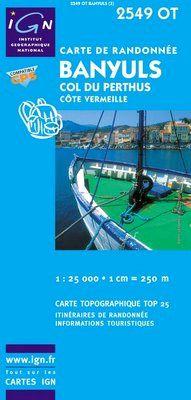 2549 OT BANYULS-COL DU PERTHUS 1:25.000 -TOP 25 IGN