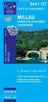 2641 OT MILLAU. GORGES DE LA DOURBIE, CAUSE NOIR 1:25.000 -IGN