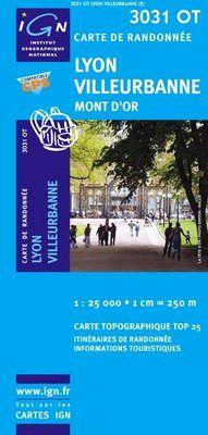 3031 OT LYON VILLEURBANNE 1:25.000 -TOP 25 IGN