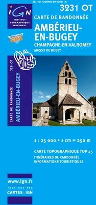 3231 OT AMBERIEU-EN-BUGEY. CHAMPAGNE-EN-VALROMEY 1:25.000 -IGN