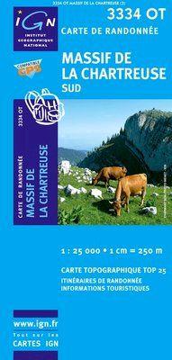3334 OT MASSIF DE LA CHARTREUSE SUD 1:25.000- TOP 25