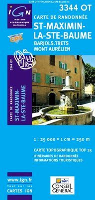 3344 OT SAINT-MAXIMIN-LA-SAINTE-BAUME 1:25.000 -TOP 25 -IGN