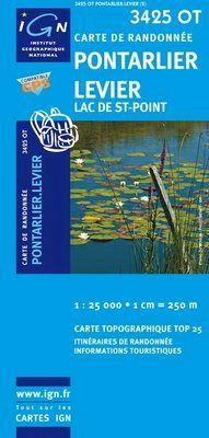 3425 OT PONTARLIER LEVIER LAS DE ST-POINT 1:25.000 -TOP 25 IGN