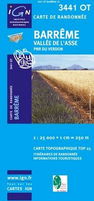 3441 OT BARREME. VALLEE DE L'ASSE 1:25.000 -TOP 25 IGN