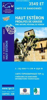 3542 ET HAUT ESTERON/PREALPES DE GRASSE 1:25.000 -TOP 25 IGN