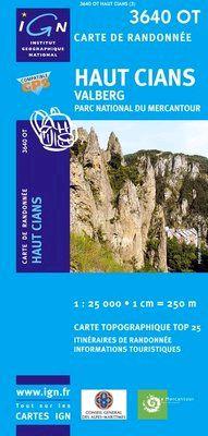 3640 OT HAUT CIANS, VALBERG 1:25.000 -TOP 25 IGN