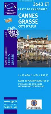 3643 ET CANNES 1:25.000 -TOP 25 -IGN