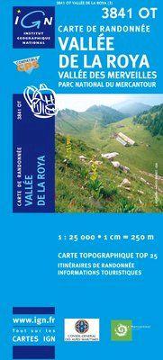 3841 OT VALLEE DE LA ROYA 1:25.000 -TOP 25 IGN