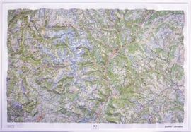 ECRINS QUEYRAS [RELLEU/RELIEVE] 1:100.000 -CARTES EN RELIEF -IGN