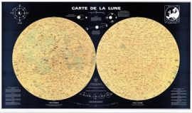 CARTE DE LA LUNE [MURAL] -IGN