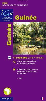 GUINÉE 1:1.000.000 -DÉCOUVERTE DES PAYS DU MONDE -IGN