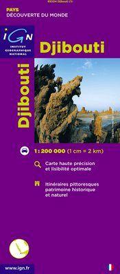 DJIBOUTI 1:200.000 -IGN DECOUVERTE DES PAYS DU MONDE