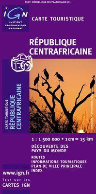 REPUBLIQUE CENTRAFRICAINE 1:500.000 -IGN DECOUVERTE DES PAYS DU MONDE