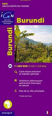 BURUNDI 1:250.000 -IGN DECOUVERTE DES PAYS DU MONDE