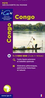 CONGO (BRAZZA) 1:1.000.000 -IGN DECOUVERTE DES PAYS DU MONDE
