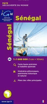 SENEGAL 1:1.000.000 -DÉCOUVERTE DES PAYS DU MONDE -IGN