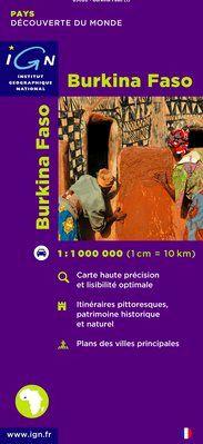 BURKINA FASO 1:1.000.000 -IGN DECOUVERTE DES PAYS DU MONDE