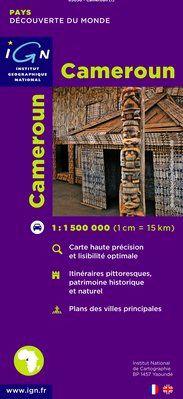 CAMEROUN 1:1.500.000 -IGN DECOUVERTE DES PAYS DU MONDE