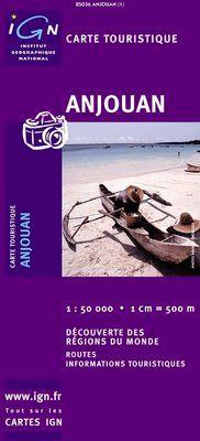 ANJOUAN-ARCHIPEL DES COMORES 1:50.000 -IGN DECOUVERTE DES REGIONS DU MONDE