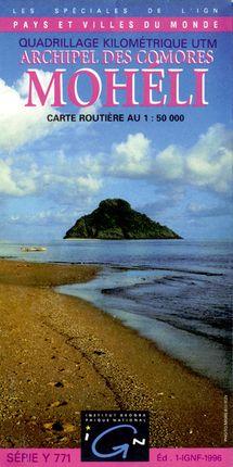 MOHELI-ARCHIPEL DES COMORES 1:50.000 -IGN DECOUVERTE DES REGIONS DU MONDE