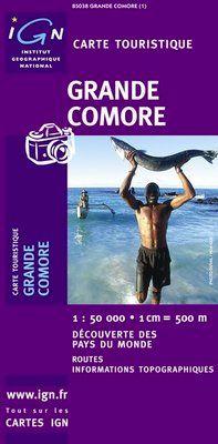 GRANDE COMORE (ARCHIPEL DES COMORES) 1:50.000 -IGN DECOUVERTE DES REGIONS DU MONDE