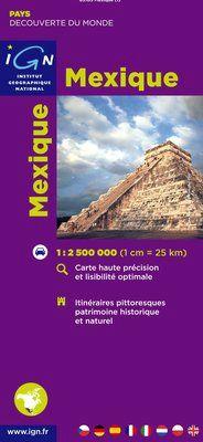MEXIQUE 1:2.500.000 -IGN DECOUVERTE DES PAYS DU MONDE
