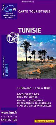 TUNISIE 1:800.000 -IGN DECOUVERTE DES PAYS DU MONDE