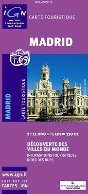 MADRID 1:11.000 -IGN DECOUVERTE DES VILLES DU MONDE