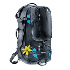 3510015-7321 TRAVELLER 60+10SL BLACK-TURQUOISE -DEUTER
