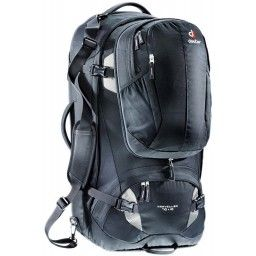 3510115-7400 TRAVELLER 70 + 10 BLACK-SILVER -DEUTER [MOTXILLA]