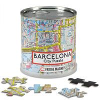 BARCELONA [LATA MAGNETIC CITY PUZZLE] 100 PIEZAS -FRIDGE MAGNETS