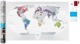 TRAVEL MAP OF THE WORLD AIR, THE [MURAL] -SCRATCH