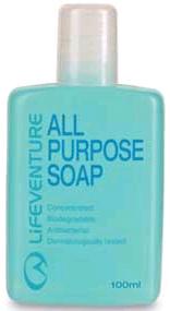 62060 ALL PURPOSE SOAP 100 ML [JABON ANTIBACTERIAS LIQUIDO] -LIFEVENTURE