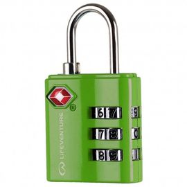 TSA COMBINATION LOCK. GREEN -LIFEVENTURE
