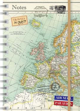VINTAGE MAPS [LIBRETA]- NOTES