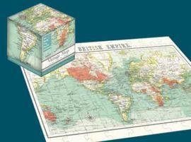 VINTAGE MAP -CUBE PUZZLE