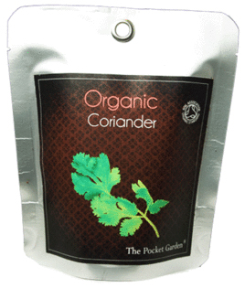 ORGANIC CORIANDER (CILANTRO) -THE POCKET GARDEN