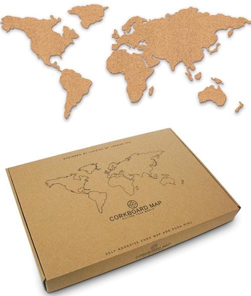 CORKBOARD MAP [MAPA MURAL CORCHO][CAJA]