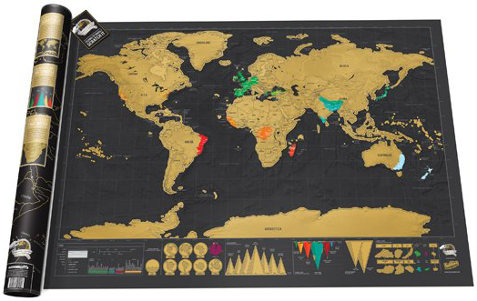 SCRATCH MAP DELUXE EDITION [MURAL] [82X59]
