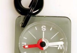 36694 28 MICRO [BRUJULA] GREY CARABINER COMPASS -SILVA