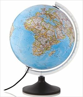GLOBE 30CM CARBON CLASSIC [ESFERA ILUMINATED][CAS] -NATIONAL GEOGRAPHIC