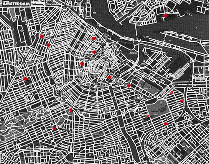 PIN CITY AMSTERDAM [BLACK] WALL MAP DIARY -PALOMAR