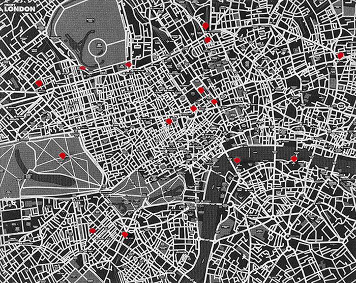 PIN CITY LONDON [BLACK] WALL MAP DIARY -PALOMAR