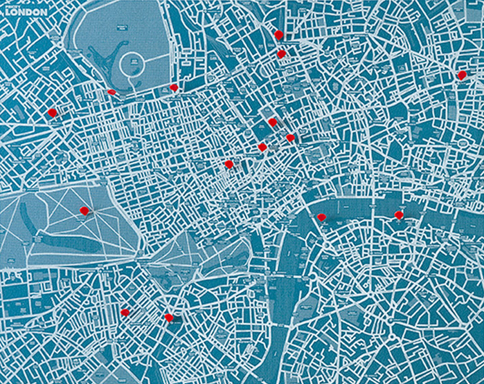 PIN CITY LONDON [BLUE LIGHT] WALL MAP DIARY -PALOMAR